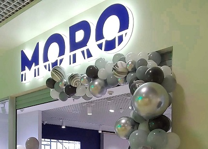 Торговое оборудование от ROMKOS для 7-го магазина MORO Ukraine